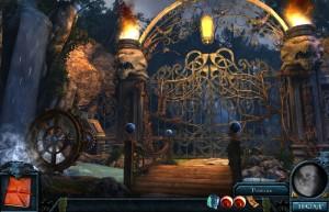 Зверь Острова Оборотней, кованные ворота, факелы