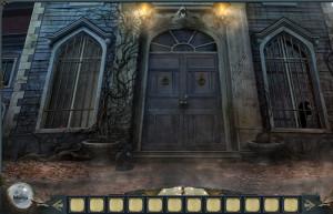 Проклятие оборотней, старый дом, фонари, входная дверь