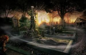 Дрематорий доктора Магнуса, кладбище, крест, могилы