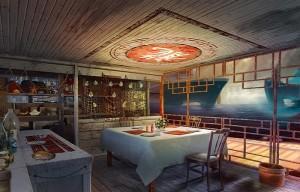 Затерянные: Остров Погибших Кораблей, ресторан, веранда