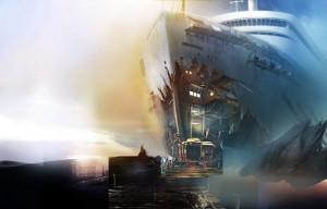 Затерянные: Остров Погибших Кораблей, разбитый корабль, море
