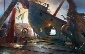 Затерянные: Остров Погибших Кораблей, останки корабля, статуя