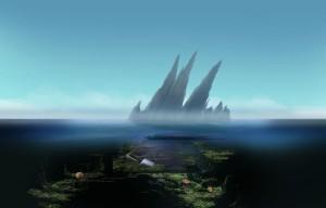 Затерянные: Остров Погибших Кораблей, море, айсберг