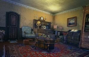 Затерянные: Остров Погибших Кораблей, комната, кресло, кабинет