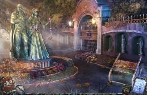 Гиблые земли 3 : Истоки, городской парк, статуя короля и королевы