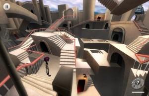 Виолетт, лабиринт из лестниц, дверей, коридоров