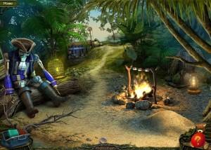 Парк Ужасов 2: Жуткие Сказки, костер в лесу, дорога к озеру