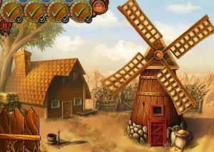 Бедовая Джейн, поиск предметов, деревенский домик, мельница