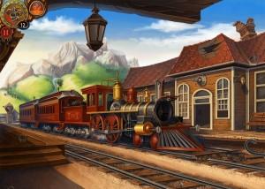 Бедовая Джейн, железнодорожный вокзал, старинный поезд