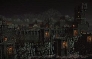 сгоревший город