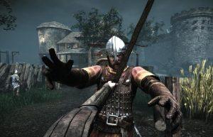 сражение рыцарей возле замка