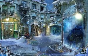 Охотники за тайнами 2: Рейнклифф, закрытая аптека, молодой человек сидит на снегу
