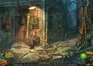 Зловещие Истории: Сага Тьмы, человек сидит у входа в дом