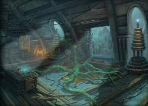 Зловещие Истории: Сага Тьмы, поиск предметов, корни дерева