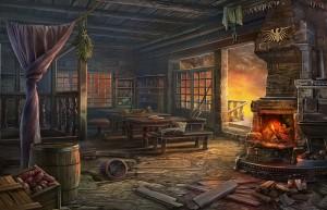 Месть Доктора Блэкмора, большая комната, горящая печь