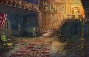 Месть Доктора Блэкмора, просторный холл, лестница на второй этаж