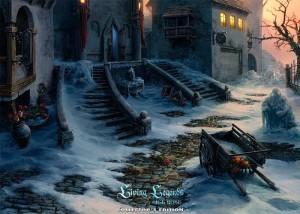 Живые легенды: Ледяная роза, двор старого замка, брошенная телега