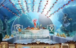 Сваха: Соединяя Сердца, романтический ужин, столик под водой