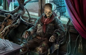 Темный Лабиринт: Река Салливан, скелет в кресле