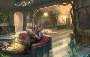 Сумрачное явление: Постояльцы дома № 13, гостиная, человек на диване