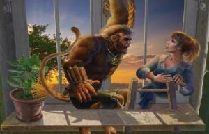 Сумрачное явление: Постояльцы дома № 13, человек - обезьяна, девушка на лестнице