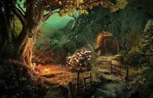 Паутина Лжи: Чёрная вдова, вход в шахту, цветущий куст