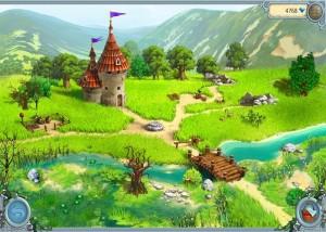 Друиды: Тайна блуждающей башни, река, мост через реку