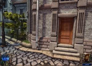 Алхимики : Темная Прага, мостовая улица, деревянная дверь
