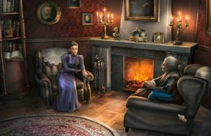 Охотники на ведьм: Украденная красота, беседа возле камина