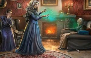 Охотники на ведьм: Украденная красота, ведьма напала на женщину