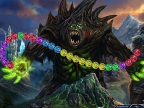 Темный мир 2: Владычица льда, сражение с монстром, три в ряд