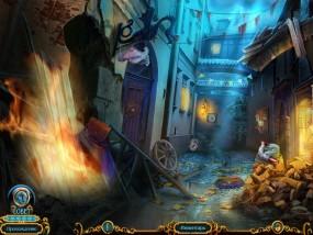 Химеры 2: Знаки пророчества, городской переулок, горящие доски