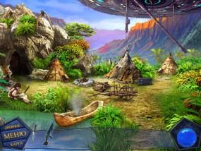 Вторжение: Затерянные во времени, летающая тарелка над пещерами, играющая девочка