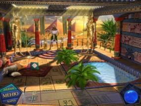 Вторжение: Затерянные во времени, дом египетского врача, бассейн, пальмы
