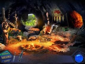 Вторжение: Затерянные во времени, пещера древних людей, горящий костер