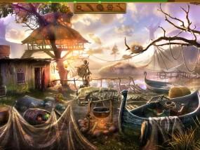 Затерянный остров: Вечный шторм, рыбацкий домик, кипящий котел, растянутая сеть