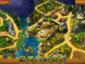 Затерянный остров: Вечный шторм, карта уровней и локаций игры