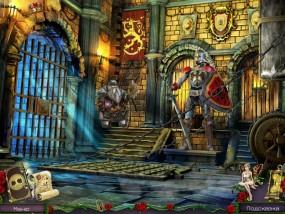 Королевский квест: Темная башня, запертые ворота, викинг - охранник, рыцарь - латник