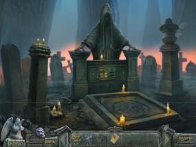 Кладбище искупления 7: Хронометр Судьбы, подземное кладбище, надгробие со свечами
