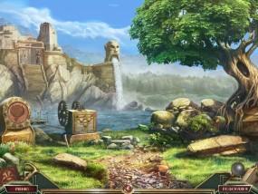 Священный Альманах: Следы жадности, город в скале, берег реки, зеленое дерево