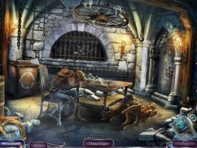 Над водой 6: Игра богов, средневековая тюрьма, скелет на столе