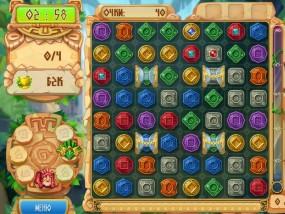 Сокровища Монтесумы 5, три в ряд, логические игры