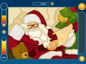Мозаика: Паззл Рождество, санта клаус, дед мороз, украшенная елка