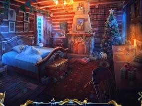Рождественские истории 4: Кот в сапогах, спящая девочка, деревянная кровать, камин в комнате