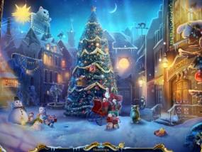 Рождественские истории 4: Кот в сапогах, городская площадь, большая елка
