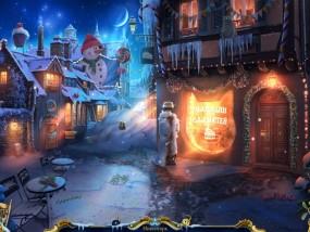 Рождественские истории 4: Кот в сапогах, городская улица, снежные сугробы