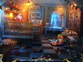 Рождественские истории 4: Кот в сапогах, городская кондитерская, витрина со сладостями