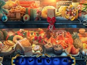 Рождественские истории 4: Кот в сапогах, сцена поиска предметов, выпечка, пирожные, конфеты