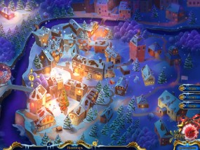 Рождественские истории 4: Кот в сапогах, карта городка, заснеженный город