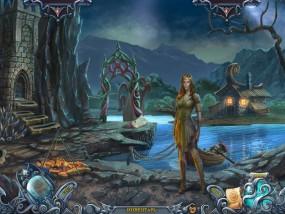 Тайны духов 5: Узы клятвы, лодка на цепи, река, эльфийка, потухший костер